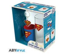 PACK - DC COMICS -  GLASSES 29CL - KEYRING PVC - MINI MUG SUPERMAN