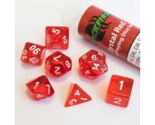 BLACKFIRE DICE - 16MM ROLEPLAYING SET - CRYSTAL RED