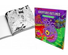 DUNGEONS & DRAGONS ADVENTURES - OUTLINED COLORING BOOK