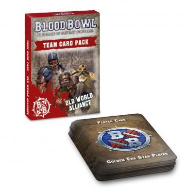 BLOOD BOWL - OLD WORLD ALLIANCE TEAM CARD PACK (CARDS)
