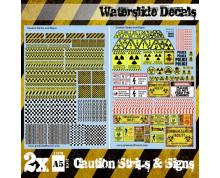 GSW: DECAL SHEETS - CAUTION STRIPS AND SIGNS