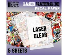 GSW: DECAL SHEETS - LASER WATERSLIDE DECAL A4-CLEAR (PACKX5)