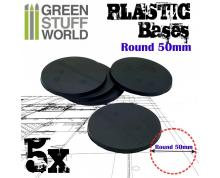 GSW: BASES - PLASTIC ROUND BASE 50MM - PACK X5