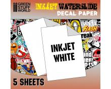 GSW: DECAL SHEETS - INKJET WATERSLIEDE DECAL A4-WHITE (PACK)