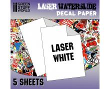 GSW: DECAL SHEETS - LASER WATERSLIDE DECAL A4-WHITE (PACKX5)