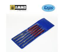 AMMO: 5 PCS MINIATURE DIAMOND FILE SET