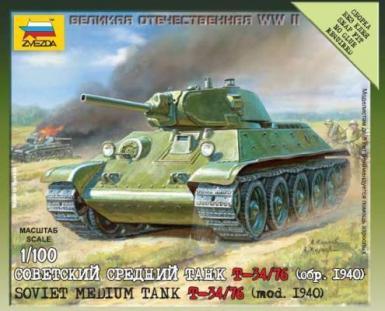 6101 - SOVIET TANK T-34 1/100