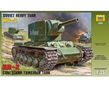 3608 - SOVIET HEAVY TANK KV-2 1/35