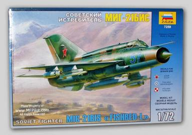 ZV: 7259 - RUSSIAN FIGHTER MIG-21 BIS 1/72
