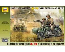 ZV: 3639 - SOVIET MOTORCYCLE M-72 1/35