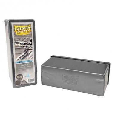 4 COMPARTMENT STORAGE BOX DS - SILVER