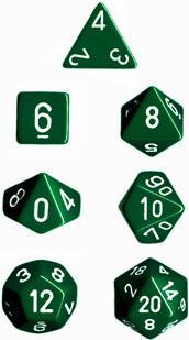 SET - OPAQUE GREEN / WHITE