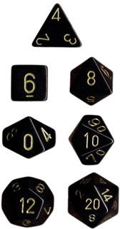 SET - OPAQUE BLACK / GOLD