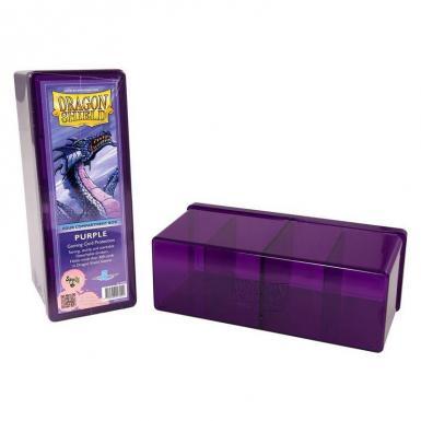 4 COMPARTMENT STORAGE BOX DS - PURPLE