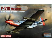 DRG: 3224 - P-51 K MUSTANG W/4,5 INCH M10 ROCKET LAUNCHER 1/32