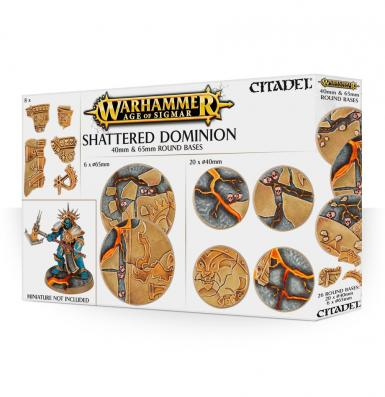 ACC - SHATTERED DOMINION 65 & 40MM ROUND BASES