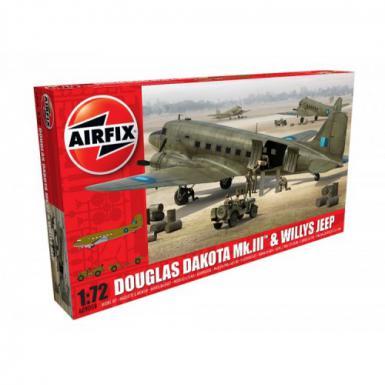 AIR: 9008 - DOUGLAS DAKOTA WITH WILLYS JEEP 1/72