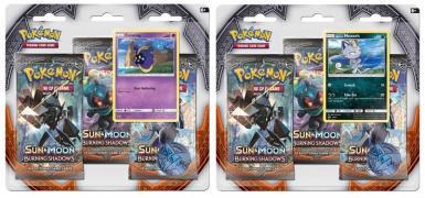 SUN AND MOON 3: BURNING SHADOWS - 3 PACK BLISTER DISPLAY 1/2
